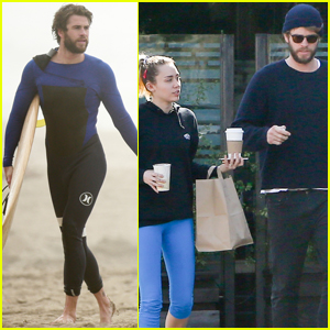 Miley Cyrus & Liam Hemsworth Have a Lunch Date After Morning Surf Sesh