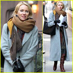 Naomi Watts Bundles Up on Set in NYC