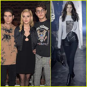 Nicola Peltz & Anwar Hadid Step Out to Support Bella Hadid at Alexander Wang Fashion Show