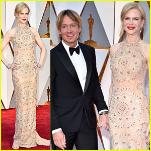 Nicole Kidman & Husband Keith Urban Hold Hands on Oscars 2017 Red Carpet