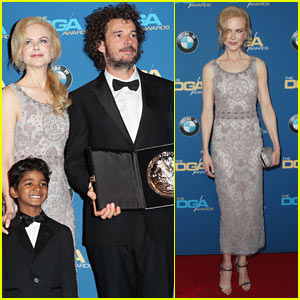 Nicole Kidman Presents 'Lion' Director Garth Davis with First Time Feature Director Award at DGAs