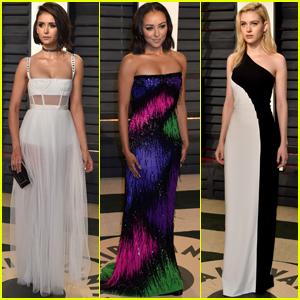 Nina Dobrev Parties With 'Vampire Diaries' Co-Star Kat Graham at Vanity Fair Oscars Party 2017