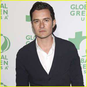 Orlando Bloom Goes Stag For Global Green Pre-Oscar Party