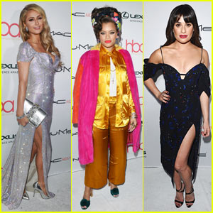 Paris Hilton & Lea Michele Go Glam for Beauty Awards in Hollywood