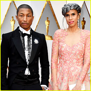 Pharrell Williams Poses with Producing Partner Mimi Valdes ...