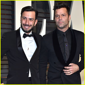 Ricky Martin & Fiance Jwan Yosef Hit Up Vanity Fair's Oscar Party!