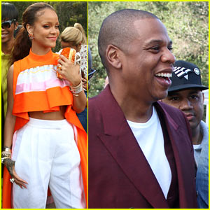 Rihanna & Jay-Z Are All Smiles at Roc Nation's Pre-Grammy Brunch