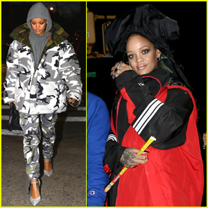 Rihanna Keeps Things Under Wraps While Shooting Music Video