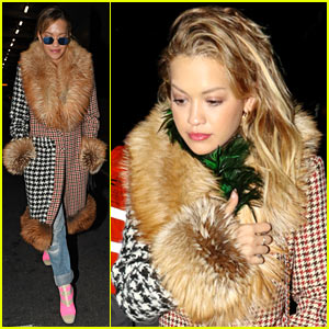 Rita Ora Pays Tribute to Franca Sozzani at Service in Milan