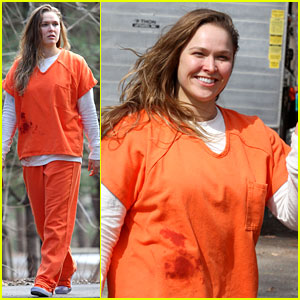 Ronda Rousey Wears a Prisoner Uniform on 'Blindspot' Set