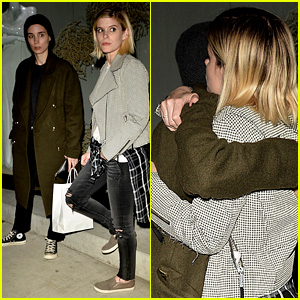 Rooney & Kate Mara Hug It Out After Having Dinner Together