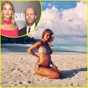 Rosie Huntington-Whiteley Pregnant, Expecting First Child with Jason Statham!