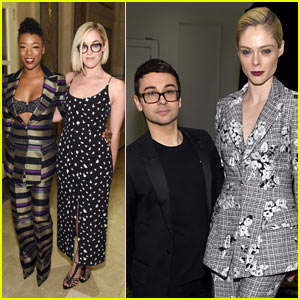 Samira Wiley & Fiancee Lauren Morelli Attend Christian Siriano's Fashion Show During NYFW