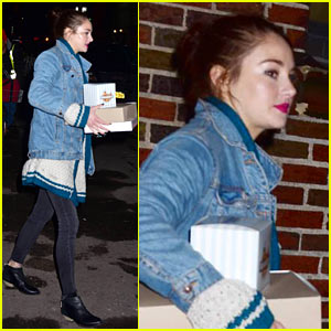 Shailene Woodley Surprises Fans With Donuts After 'Late Show with Stephen Colbert' Appearance