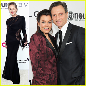 Sharon Stone, Tony Goldwyn & Bellamy Young Live It Up At Elton John's Oscars Party!