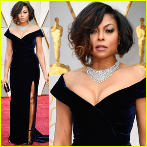 Taraji P. Henson Gives Serious Face on Oscars 2017 Carpet