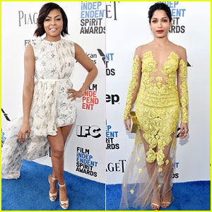 Taraji P. Henson & Freida Pinto Support Independent Film at Spirit Awards 2017!