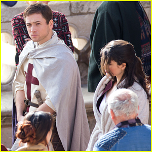 Taron Egerton Spotted as 'Robin Hood' in First Set Photos!
