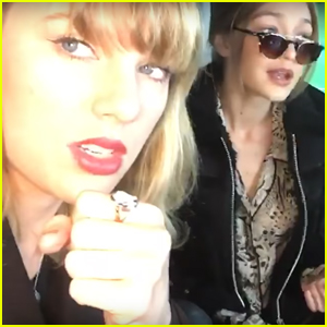 Taylor Swift & Gigi Hadid Rock Out to 'I Don't Wanna Live Forever' Together (Video)