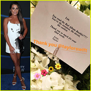 Taylor Swift Sends Lea Michele Flowers & Note, Calls Her 'The Coolest'