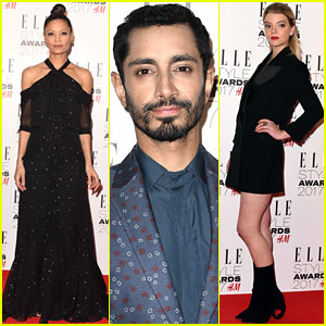 Thandie Newton & Riz Ahmed Step Out for Elle Style Awards 2017