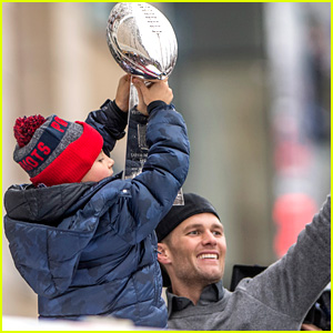 Tom Brady's Son Benjamin Holds the Lombardi Trophy During the Patriots' Super Bowl Parade!