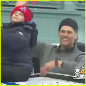 Tom Brady's Son Benjamin Adorably Does the Dab During Super Bowl Parade 2017 - Watch Now!
