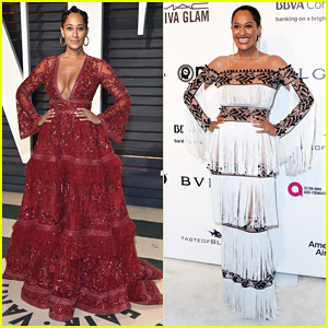 Tracee Ellis Ross Pulls Double Dress Duty At Oscar Parties