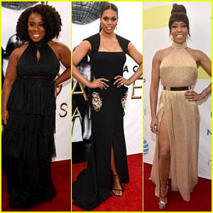 Uzo Aduba & Laverne Cox Rep 'OITNB' at NAACP Image Awards