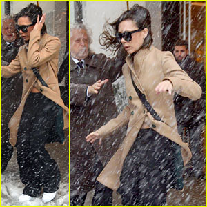 Victoria Beckham Braves Snow Storm for NYFW Work Day