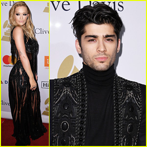 Zayn Malik & Rita Ora Attend Clive Davis' Gala During 'Fifty Shades Darker' Opening Weekend!
