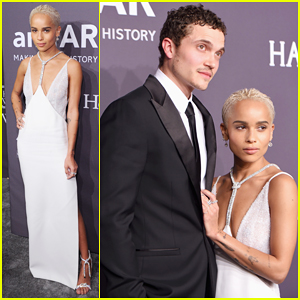Zoe Kravitz & Boyfriend Karl Glusman 'Clean Up' For 2017 amfAR Gala!