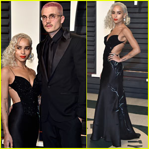 Zoe Kravitz & Boyfriend Karl Glusman Wear Coordinating Black Outfits for Vanity Fair Party!
