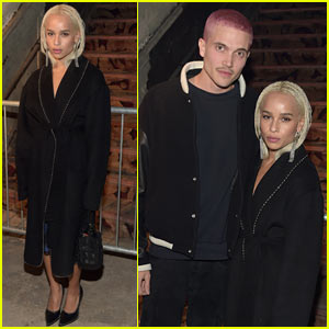 Zoe Kravtiz's Boyfriend Karl Glusman Shows Off His New Pink Hair at Alexander Wang Fashion Show!