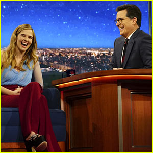 Zoey Deutch Jumped on Stephen Colbert & Almost Hit Him With Her Shoe