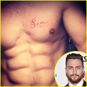 Aaron Taylor-Johnson Flaunts Six Pack to Wish Wife Sam a Happy Birthday