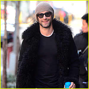 Adam Levine Gets In a Workout Before Big NYC Blizzard