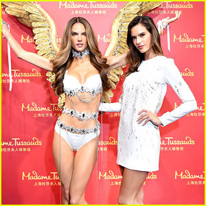 Alessandra Ambrosio Unveils Lingerie-Clad Wax Figure in China