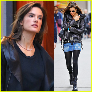 Alessandra Ambrosio Enjoys Some Time in NYC with Her Kids!