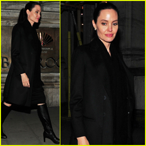 Angelina Jolie Visits Buckingham Palace With Son Maddox