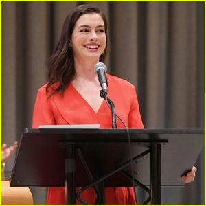 Anne Hathaway Speaks at UN For International Women's Day