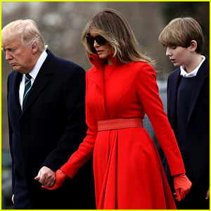 Barron Trump Visits His Father at the White House