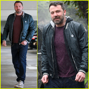 Ben Affleck Braves the Rain While Taking on Dad Duties