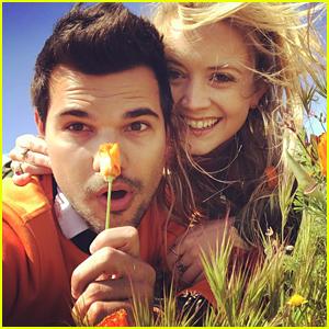 Billie Lourd & Taylor Lautner Enjoy Afternoon Date After Mom Carrie Fisher's Memorial Service