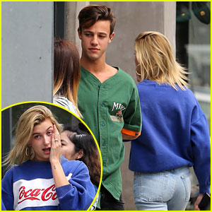 Hailey Baldwin Lunches with Cameron Dallas Amid Dating Rumors