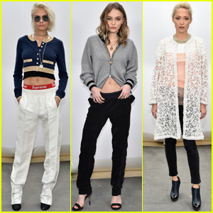 Cara Delevingne & Lily-Rose Depp Step Out at 'Chanel' Show During PFW