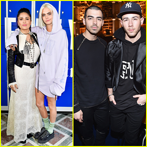 Cara Delevingne, Nick & Joe Jonas Support Rihanna At Her 'Fenty x Puma' Paris Fashion Show!