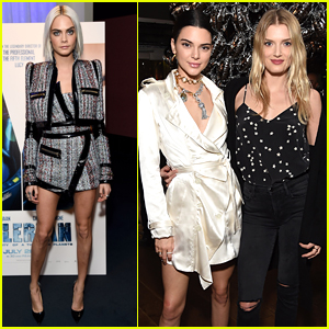 Cara Delevingne is Joined by BFFs Kendall Jenner & Lily Donaldson at 'Valerian' Trailer Viewing Party
