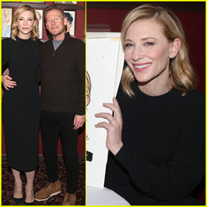 Cate Blanchett & Co-Star Richard Roxburgh Reveil Their Caricature Drawings in NYC!