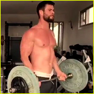 Chris Hemsworth Goes Shirtless for Hottest Workout Video Ever!